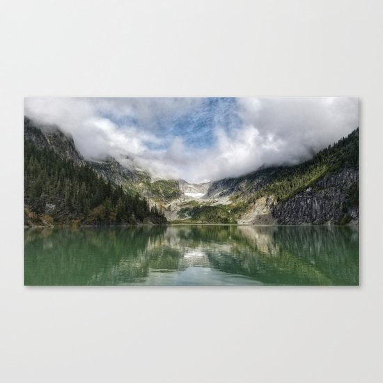 Lake Landscape #mountains Canvas Print