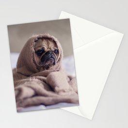 Snug pug in a rug Stationery Cards