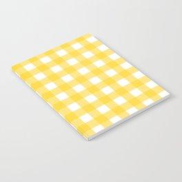 White & Yellow Gingham Pattern Notebook