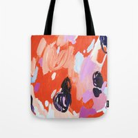 pie Tote Bags featuring Pie For Breakfast by Emily Rickard