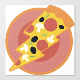 Flash pizza Canvas Print