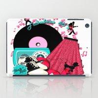 rock n roll iPad Cases featuring Rockabilly Rock n Roll by BURPdesigns