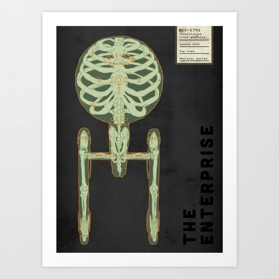 Spaceship Skeletal Survey: The Enterprise Art Print