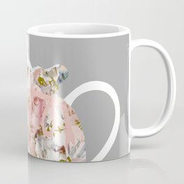 French Script and Roses Tea Cozy Coffee Mug
