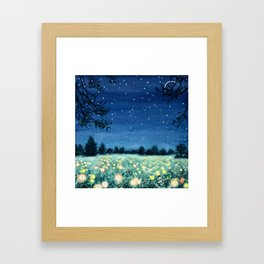 Dance of the Fairies and the Fireflies Framed Art Print