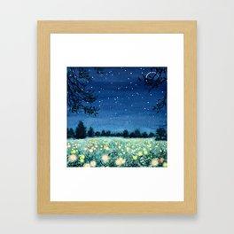 Dance of the Fairies and the Fireflies Framed Art Print