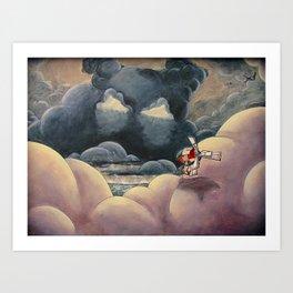Fear Series - Scene 4: Fear in the Sky Art Print