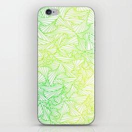 Green Yellow Geometric Waltz iPhone Skin