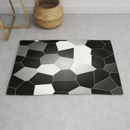 Black and white mosaic Rug
