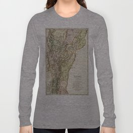 Vintage Map of Vermont (1797) Long Sleeve T-shirt