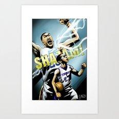The Brow of SHAZAM! Art Print