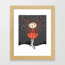 'Rudolf the Reel Deer' Lil Dancer Framed Art Print