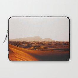 Minimalist Desert Landscape Sand Dunes With Distant Mountains Laptop Sleeve