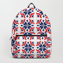 Red & Navy Snowflake no.dd1709210 Backpack