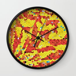 Yellow and red abstract Wall Clock