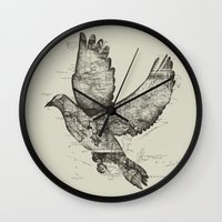 wanderlust Wall Clocks featuring Wanderlust by Tobe Fonseca