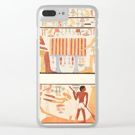 Ancient - Giza 1900, Wall painting 4 Clear iPhone Case