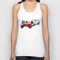 vespa Tank Tops featuring Vespa by absoluca