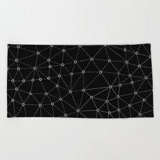 African Triangle Black Beach Towel