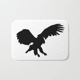 Eagle Black Silhouette Pet Animal Cool Style Bath Mat