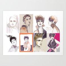 Fashion illustration composition Art Print