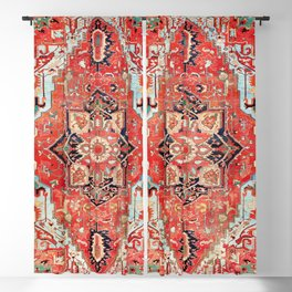 Heriz Azerbaijan Northwest Persian Rug Print Blackout Curtain