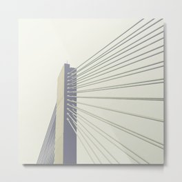 cable-stayed bridge Metal Print