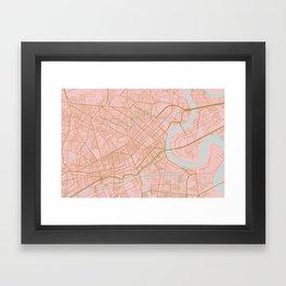 Ho Chi Minh map, Vietnam Framed Art Print