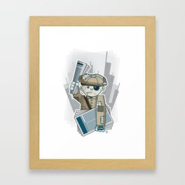 Big City Paperboy Framed Art Print
