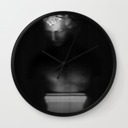 Bust in the Dark Wall Clock