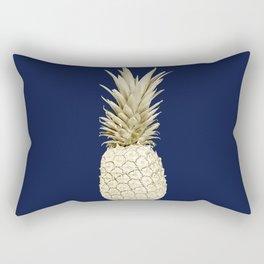 Pineapple Pineapple Gold on Navy Blue Rectangular Pillow