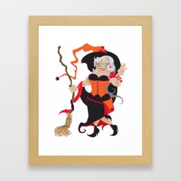 Granny Hex (Orange) Framed Art Print