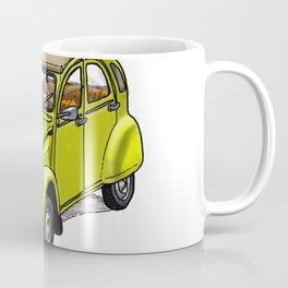 Yellow 2CV Coffee Mug