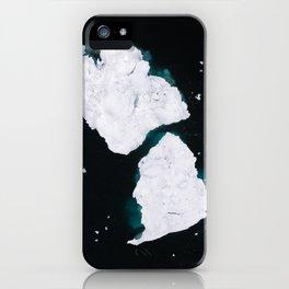 Minimalist dancing Icebergs – Arctic Photography iPhone Case