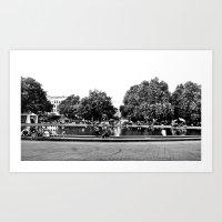 vienna Art Prints featuring Vienna by Med Threads