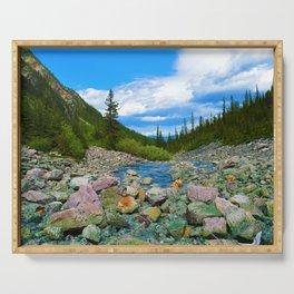 Geraldine Lakes Hike in Jasper National Park, Canada Serving Tray
