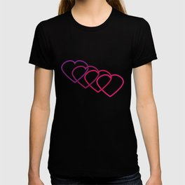 Interlocking Purple Hearts T-shirt