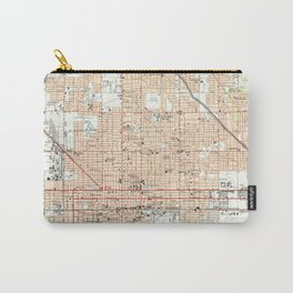 Vintage Map of Phoenix Arizona (1952) Carry-All Pouch