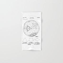 Buckminster Fuller 1961 Geodesic Structures Patent Hand & Bath Towel