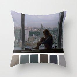Charlotte Window Tokyo View Throw Pillow