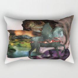 Cosmic Dust | Collage Rectangular Pillow
