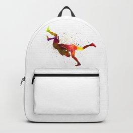 Wrestlers wrestling men 02 in watercolor Backpack