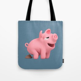 Rosa does a POOP blue Tote Bag
