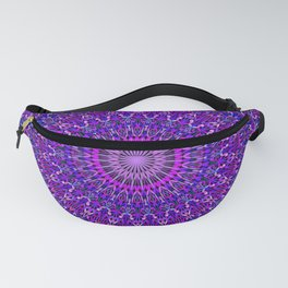 Lace Mandala in Purple and Blue Fanny Pack