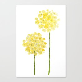 two abstract dandelions watercolor Canvas Print