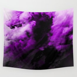 Royalty - Abstract In Purple And Black Wall Tapestry
