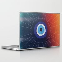 evil eye Laptop & iPad Skins featuring Evil Eye by DuckyB