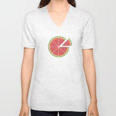 Watermelon Pizza Unisex V-Neck