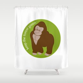 Keep the Forest Green_03 Shower Curtain