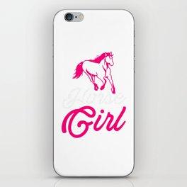 Horse Girl Horse Lover Horse Fan Farmer Horseman Design iPhone Skin